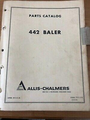 Allis Chalmers Parts Catalog For 442 Baler Form 9001354 1969