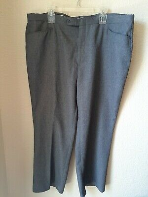 Botany 500 Mens Gray Polyester Dress Pants Size 44x28 Grey Polyester Mens Dress Pants