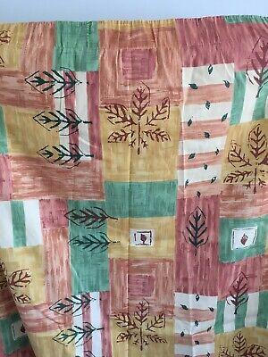"Autumn style & colour Curtains Size 68""wide x 84"" drop ' circa 1990"