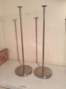 Chrome speaker stands, 2 pairs
