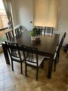 NEED GONE THIS WEEKEND Large dining table and 8 chairs