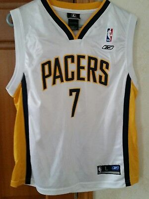 Jermaine O'Neal Authentic Indiana Pacers Reebok Jersey Youth L NBA