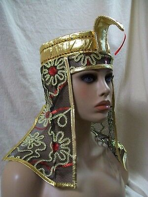 Egyptian Snake Gold Headpiece Asp Tut Nile Queen Egypt Goddess Cleopatra Pharaoh - Pharaoh Headpiece