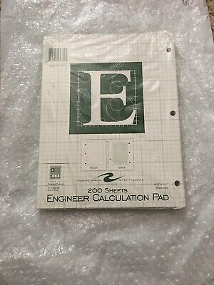 Engineering Paper - 200 Sheets Engineering Calculation Pad - Shipped Bubble Wrap