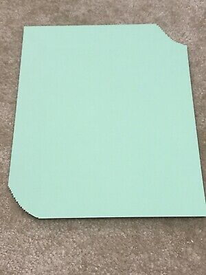 Neenah Vellum Bristol Cardstock Paper Lot Green 8.5 x 11