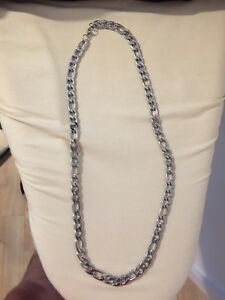 "Men's 24"" Sterling Silver Chain"