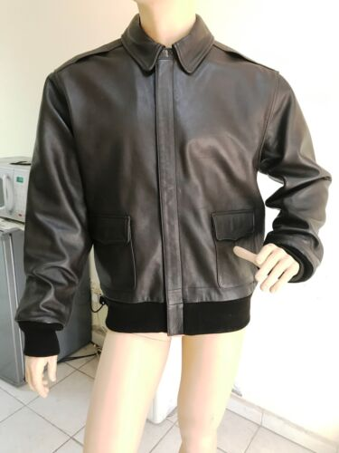US A-2 AIR FORCE LEATHER FLIGHT JACKET SIZE XL