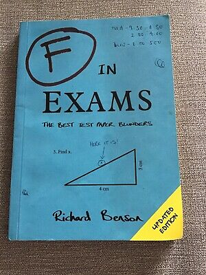F IN EXAMS BOOK RICHARD BENSON THE BEST TEST PAPER BLUNDERS/FUNNY EXAM (Best Test Answers Funny)