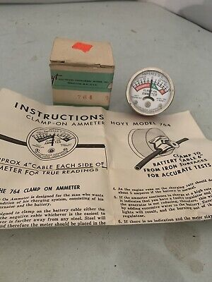 Vintage Hoyt Clamp On Ammeter Meter In Box With Instructions Model 764 Usa