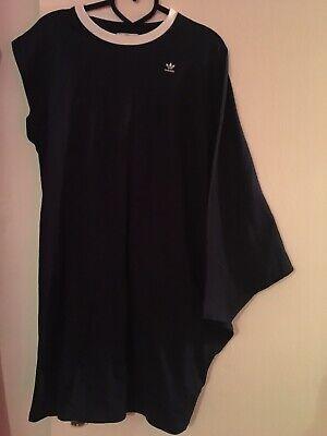WOMENS ADIDAS ORIGINALS  HYKE ASYMMETRIC BIG T- SHIRT DRESS SIZE 12-14 UK