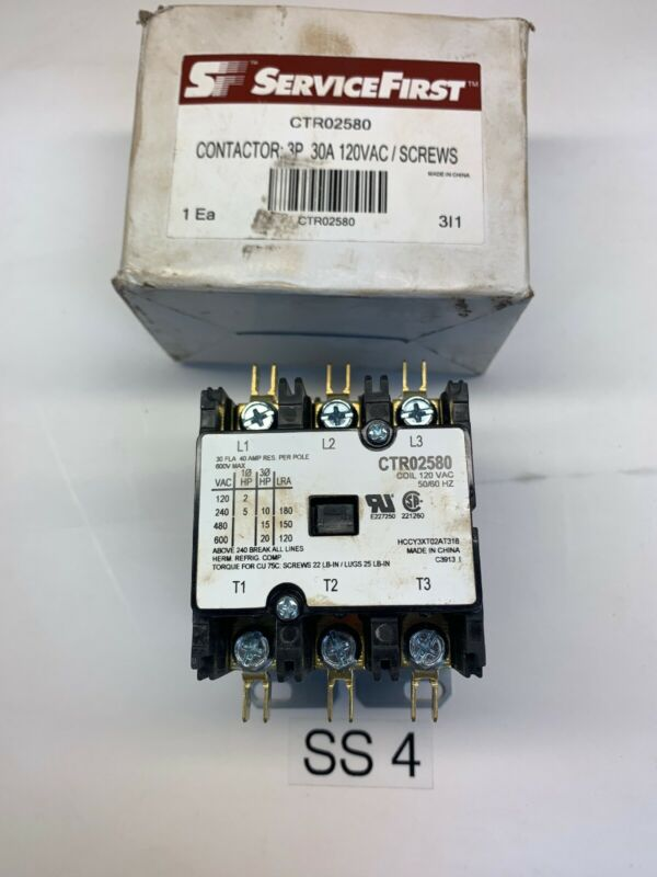 NEW SERVICE FIRST 30A CONTACTOR CTR02580 Fast Shipping!