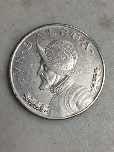 1934 PANAMA UN BALBOA SILVER COIN