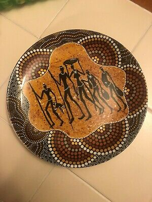 BUNABIRI WESTMINSTER ABORIGINAL ART PLATE-COLIN JONES KO-OR HUNTER GATHERERS