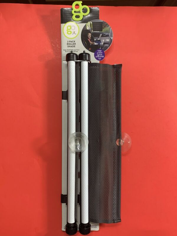 Go by Goldbug - 2 Pack Roller Shade - Helps Protect Against UVA/UVB Rays - New
