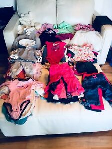 Lot of over 100 pieces of 6-9 months baby girl clothes (Group#2)