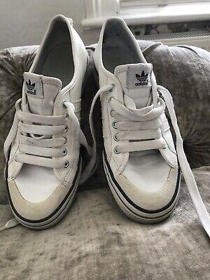 Mens Adidas Nizza Trainers Size UK 8 White