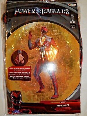 Costume Power Rangers Disguise Red Ranger M Mens Halloween Action Bodysuit New - Action Man Halloween