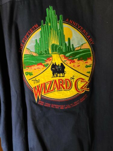 Vintage Wizard of Oz Jacket 50th Anniversary 1989 size xl Large  Made in USA