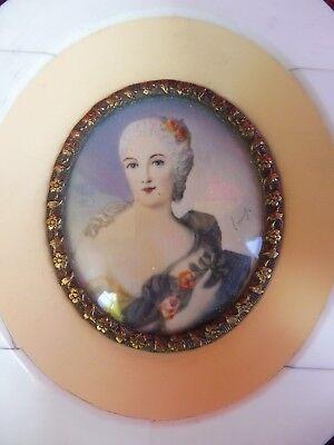 Beautiful, old Miniature Portrait__Noblewoman Painting_