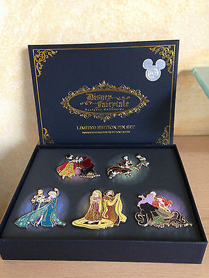 Disney Fairytale Designer Limited Edition Pins Pin Set D23 limitiert Elsa Ariel
