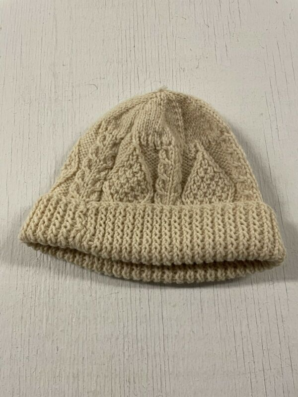 Vintage Irish fisherman sweater style beanie Winter Ski Hat VINTAGE