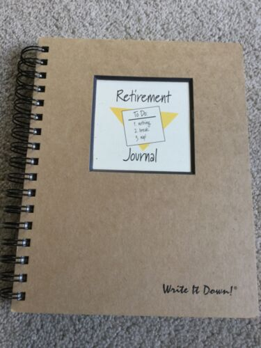 Retirement Journal Celebration Guest Book Gift Memories Address Phone Keepsake