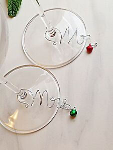 Wine glass charms Christmas dinner deciration Edmonton Edmonton Area image 3