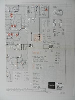 CB 200 / CB 210 Original Schaltplan für GRUNDIG Hifi Cassettendeck online kaufen