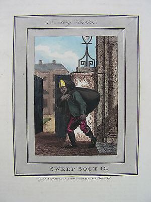 SWEEP SOOT O.  Schornsteinfeger  kolorierter Kupferstich 1801 SELTEN !