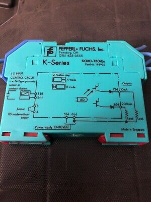 FUCHS K-SERIES INTRINSICALLY SAFE BARRIER KG30-T30//Ex 14493S *PZB* PEPPERL
