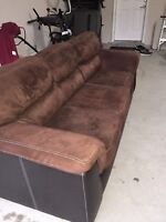 Suede / fabric couch