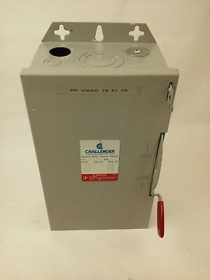 Challenger Hd362nfc Safety Switch Type 1 Indoor 60a 600vac600dc 3p Used