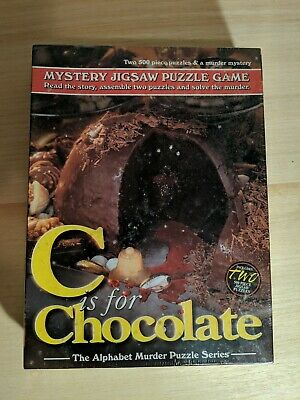 C is for Chocolate Mystery Jigsaw Puzzle Game New Sealed in Box