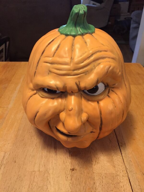 SCIOTO Ceramic Mold Snarling HALLOWEEN Pumpkin/Jack-O-Lantern Light Orange
