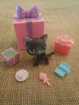 Littlest Pet Shop Birthday Party (Littlest Pet Shop Birthday Party Set Black Standing Short Hair Cat #336)