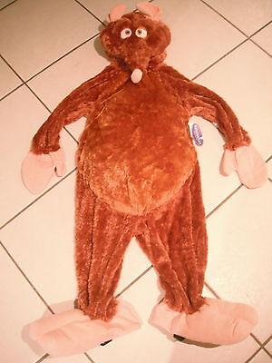 NEW! Disney Store EMILE COSTUME XXS 2/3 HALLOWEEN Ratatouille BROWN RAT - Halloween Rat Costume