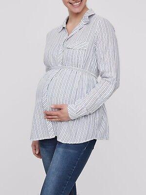 Mamalicious Maternity Shirt Size Uk Xl rrp £35 LS172 AA 17