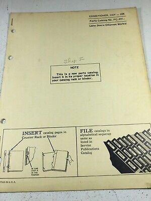John Deere 228 Hay Conditioner Parts Manual