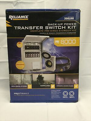 Reliance 31406crk 6-circuit Transfer Switch Kit 306lrk - New In Box
