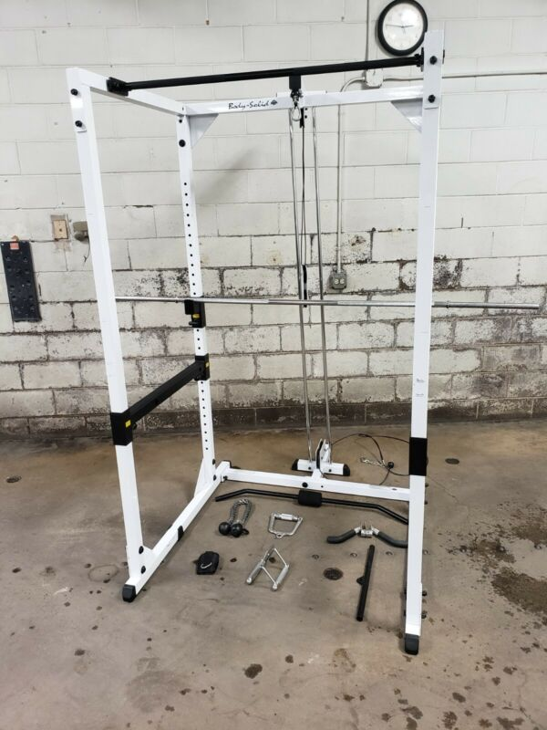 Body Solid Power Rack workout system