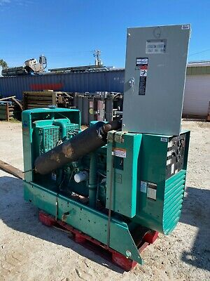 Onan Genset 45em Natural Gas 45 Kw Standby Generator Wtransfer Switch 547 Hours