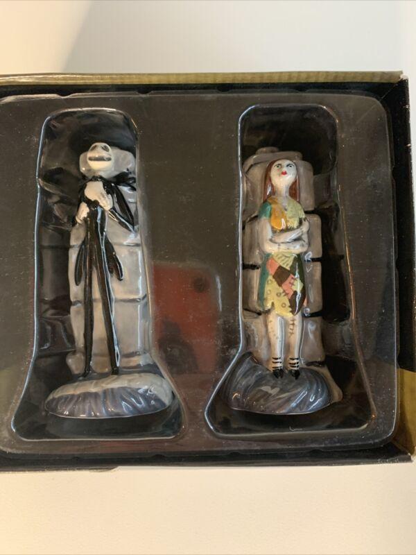 Enesco Nightmare Before Christmas Jack Skellington & Sally Salt & Pepper Shaker