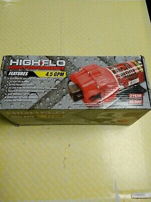 High-flo 4.5gpm Diaphragm Pump 12volt 60psi Pressure Switch