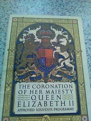 QUEEN ELIZABETH 2 II CORONATION ORIGINAL APPROVED SOUVENIR PROGRAMME