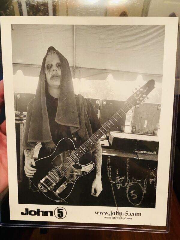 John5 signed 8x10 promo photo blemish