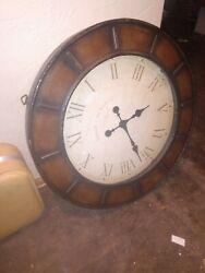 LARGE Oversized Round Wall Clock ** Edinburgh Clock Works Co Beautiful