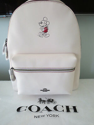 ef8e0910bc0 ... ebay coach disney mickey mouse large charlie chalk leather backpack 550  limited ed 60e73 86d02