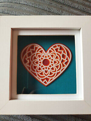 3d Layered Card and Vinyl Wall Art Picture - Heart- Modern Wall Picture