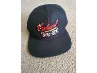 Cuphead Baseball Cap Vintage Frayed Logo Official Grey Strapback