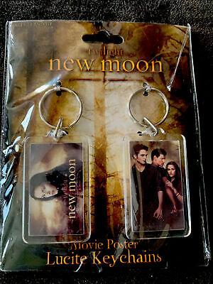 Twilight Saga New Moon Movie Poster Lucite Keychains NIP Original SEALED 2009
